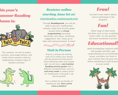 Tails & Tales Summer Reading Flyer